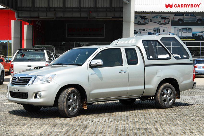 CARRYBOY Hardtop Überhoch Toyota Hilux Vigo Extrakabine 2005-2015 GFK Hardtop extrem stabil mit Schiebefenstern