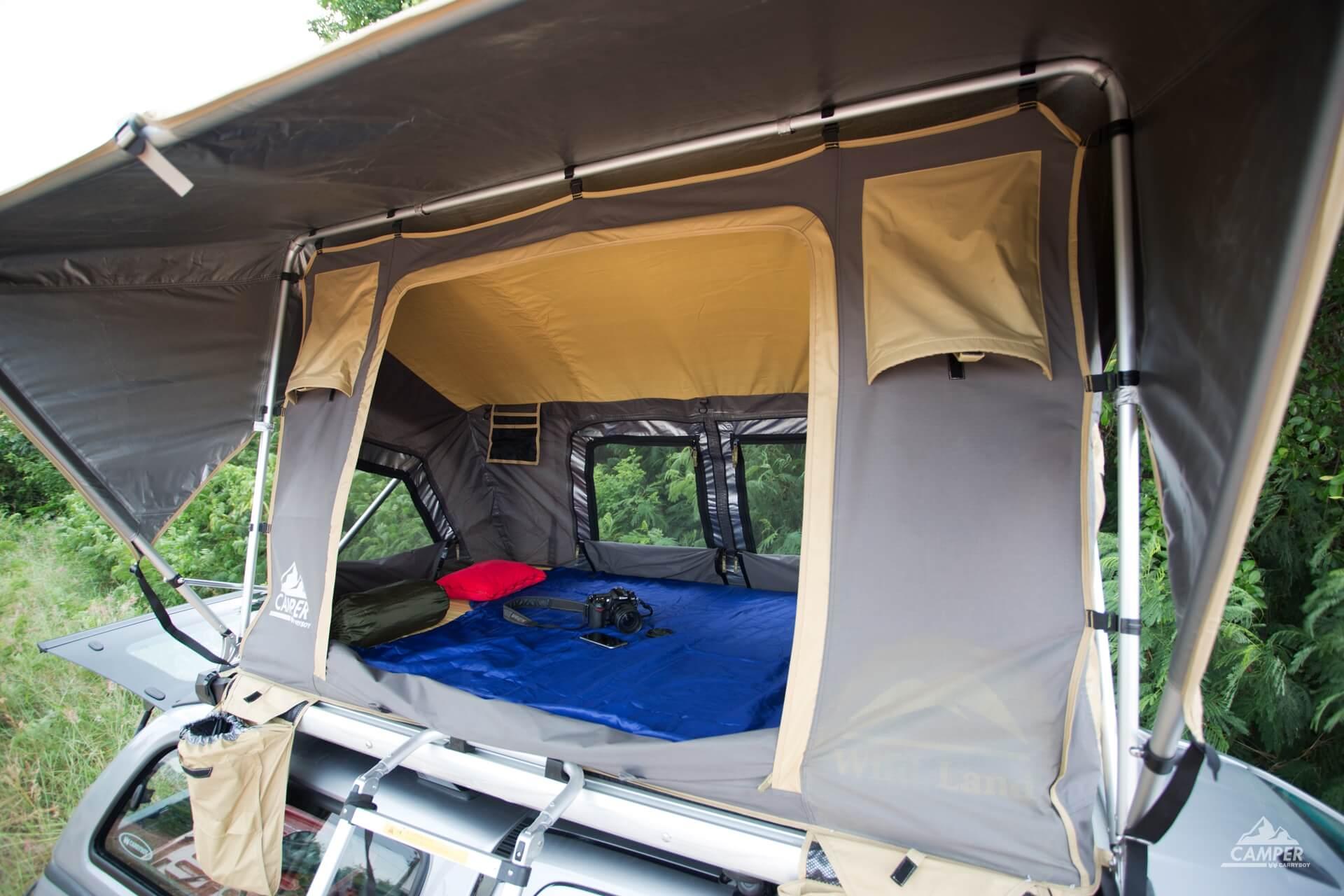 Carryboy Camper Dachzelt für 2 bis 3 Personen für alle Fahrzeuge bequemer Einstieg