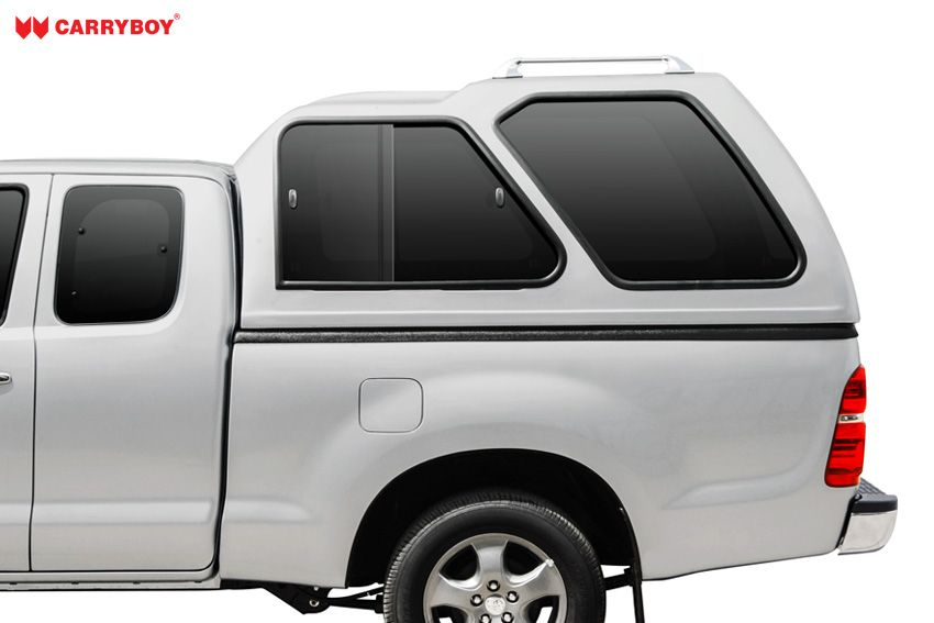CARRYBOY Hardtop mit Überhöhe Schiebefenster 840-FC Ford Ranger Extrakabine 2002-2011 extrem robustes GFK Hardtop