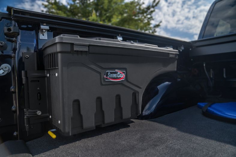 NOVISauto CARRYBOY Werkzeugbox Staubox Toolbox schwenkbar für Pickup Ladefläche Nissan Navara Renault Alaskan Mercedes X Cargo Management