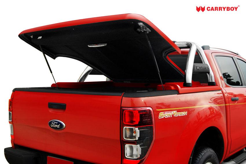 CARRYBOY Laderaumabdeckung Flachabdeckung mit Bügel SLX Toyota Hilux Vigo Doppelkabine 2005-2015