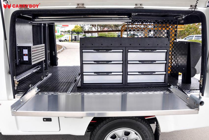CARRYBOY Kofferaufbau CSV Zusatzausstattung Individuelle Anpassungen Ford Ranger Einzelkabine