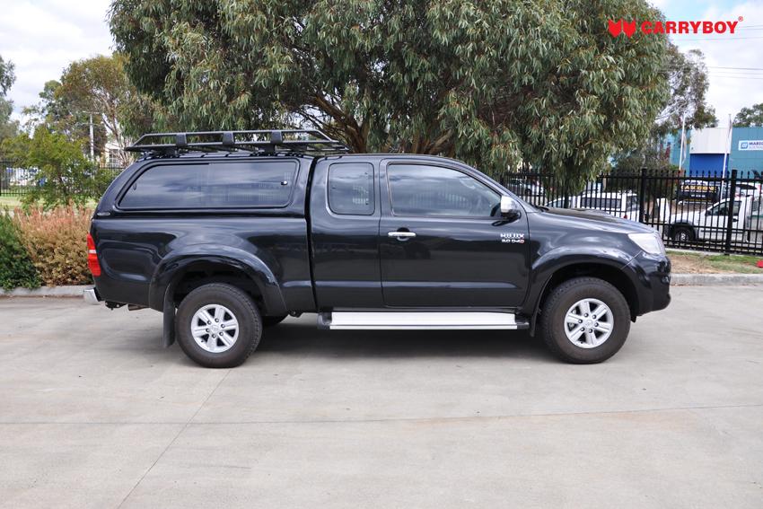 CARRYBOY Hardtop mit großen Schiebefenstern 560gF-TRC Toyota Hilux Revo Invincible Extrakabine einfacher Einbau ohne Bohren