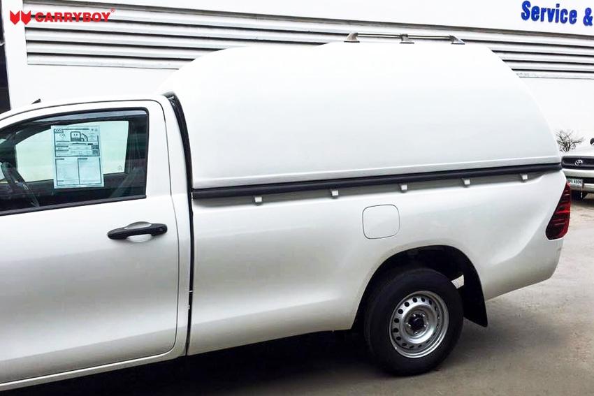 CARRYBOY Hardtop 840oS für Ford Ranger Singlecab ohne Fenster über Kabinenhöhe hohes Hardtop Wagenfarbe lackiert