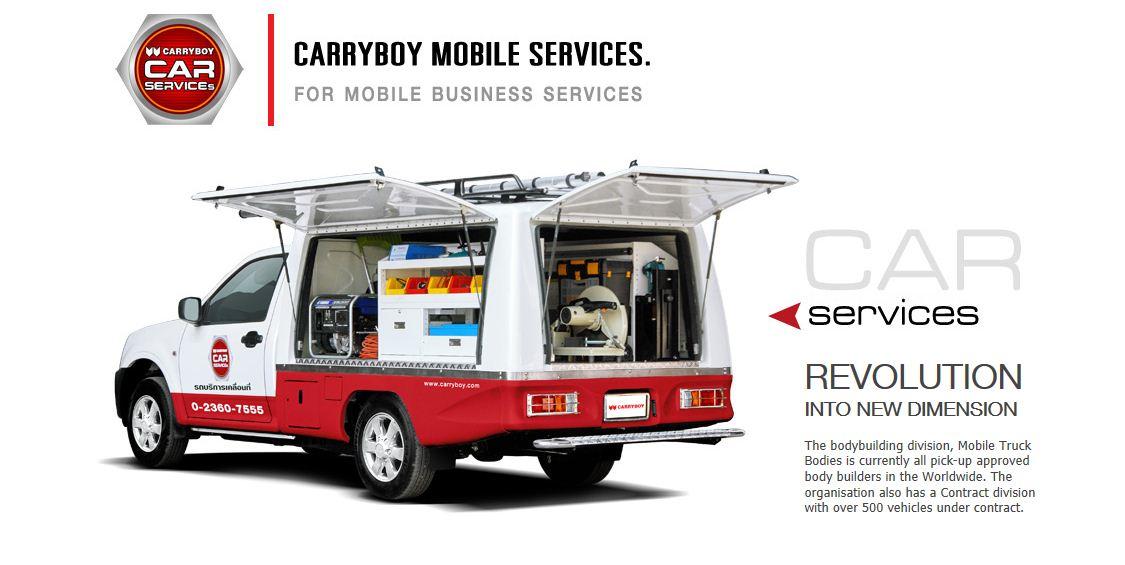 CARRYBOY Fahrgestellaufbau Kofferaufbau für Ford Ranger Singlecab große Seitenklappen lackiert und verschließbar
