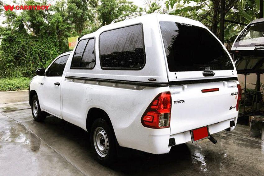 CARRYBOY Hardtop mit Überhöhe 840-TRL Toyota Hilux Singlecab Einzelkabine seitliche Schiebefenster einfacher Aufbau maximale Ladehöhe