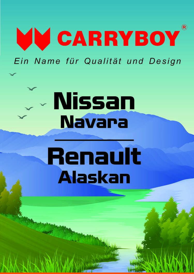 CARRYBOY Flyer Broschüre Nissan Navara Renault Alaskan Mercedes X Hardtop Laderaumabdeckung Zubehör