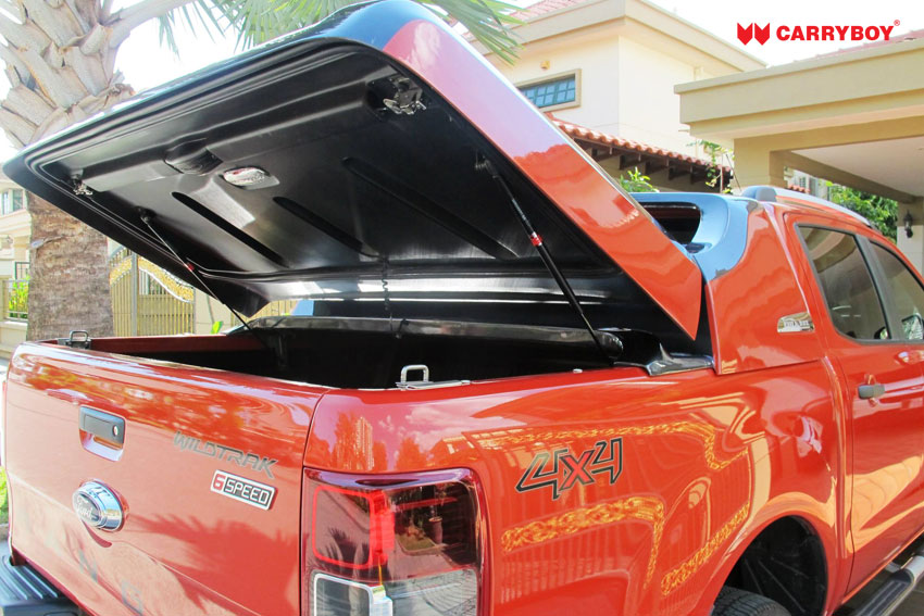 CARRYBOY Laderaumabdeckung Deckel Fullbox für VW Amarok Doppelkabine 2010-2020 einfacher Einbau