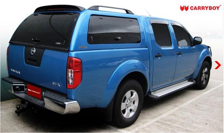 CARRYBOY Hardtop SO-NFD mit seitlichen Glasklappen und getönter Heckscheibe Nissan Navara D40 Doppelkabine
