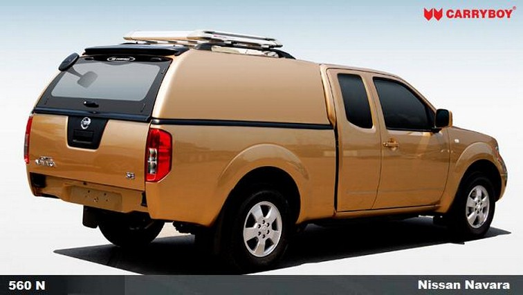 CARRYBOY Hardtop geschlossene Seiten 560oS für Nissan Navara D40 Kingcab passgenaue Verarbeitung