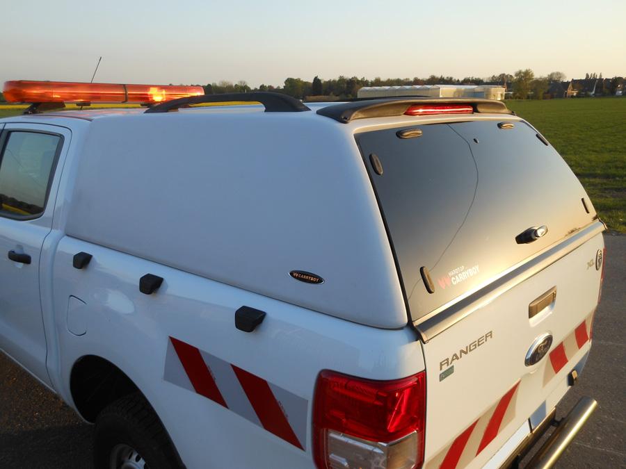 Ford Ranger Extrakabine Extracab CARRYBOY Hardtop 560oS ohne Seitenfenster geschlossene Seiten
