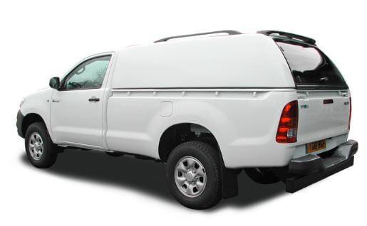 CARRYBOY Hardtop ohne Seitenfenster geschlossene Seiten Ford Ranger Singlecab Einzelkabine 2002-2011 sicher abschließbar