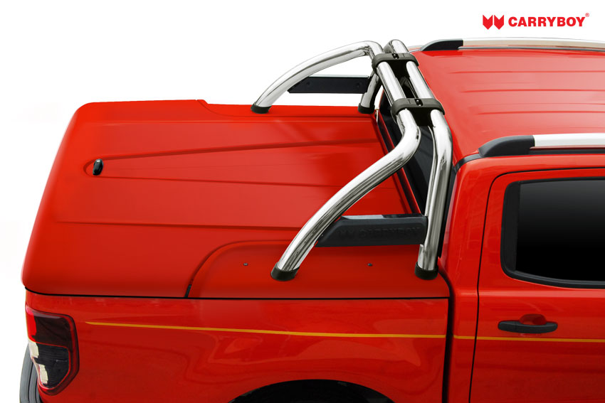 CARRYBOY Laderaumabdeckung GFK Deckel mit Bügel SLX Isuzu D-Max 2012-2020 Doppelkabine