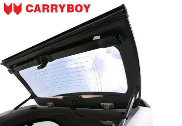CARRYBOY Hardtop 560 mit seitlichen Schiebefenster für VW Amarok Doppelkabine Heckklappe mit Heckscheibenheizung