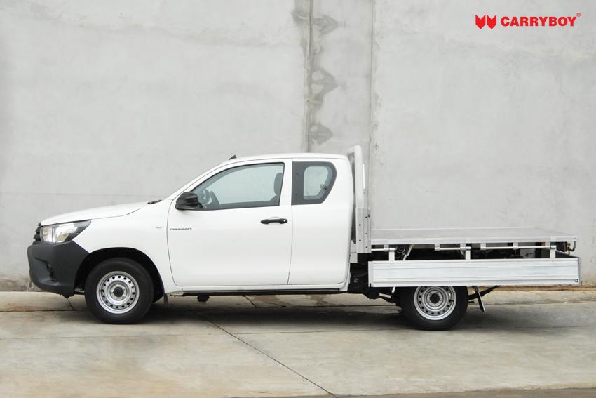 Carryboy Fahrgestellaufbau Aluminiumladeboden mit abnehmbaren Bracken Ladunssicherung Extrakabine Pickup