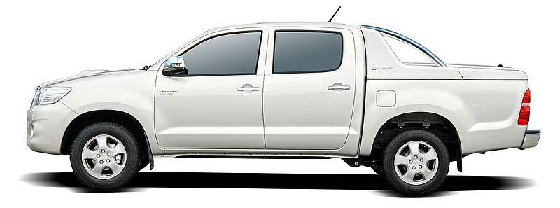 CARRYBOY Laderaumabdeckung mit Edelstahlbügel GRX-TVD Toyota Hilux Vigo Doppelkabine langjähriger Ersatzteilservice