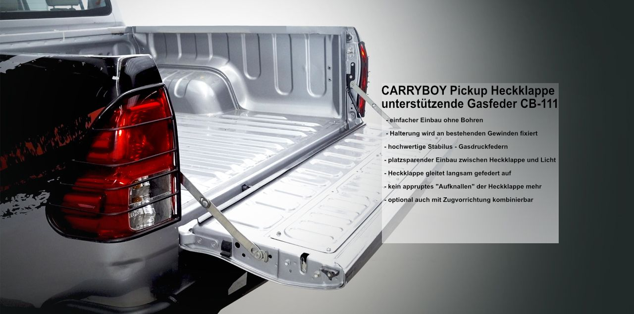 CARRYBOY Heckklappendämpfer CB-111-TR Toyota Hilux 2016+