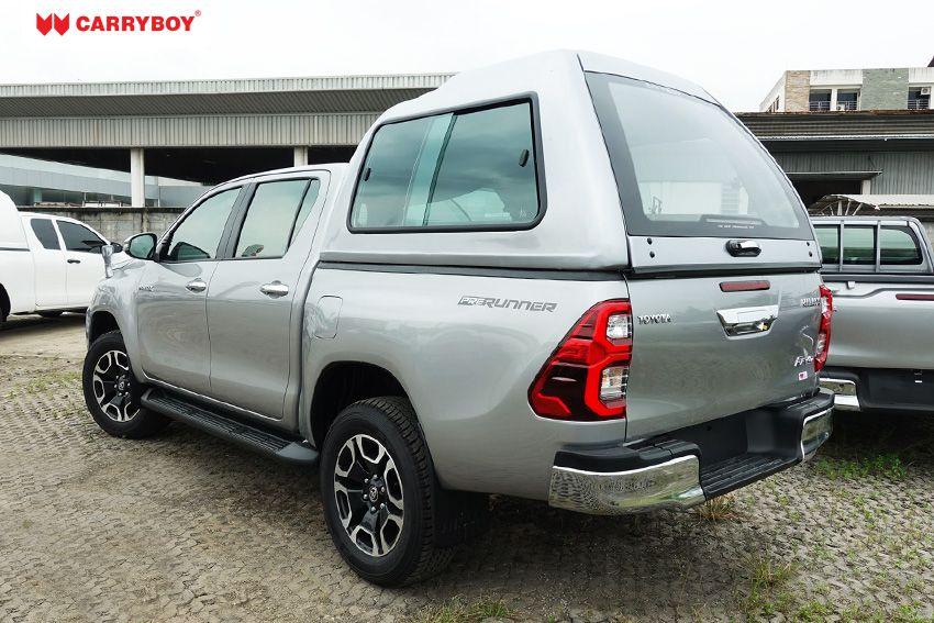CARRYBOY Glasfaser GFK Hardtop Überhoch Transporthardtop Logistikhardtop Toyota Hilux Revo Invincible Doppelkabine