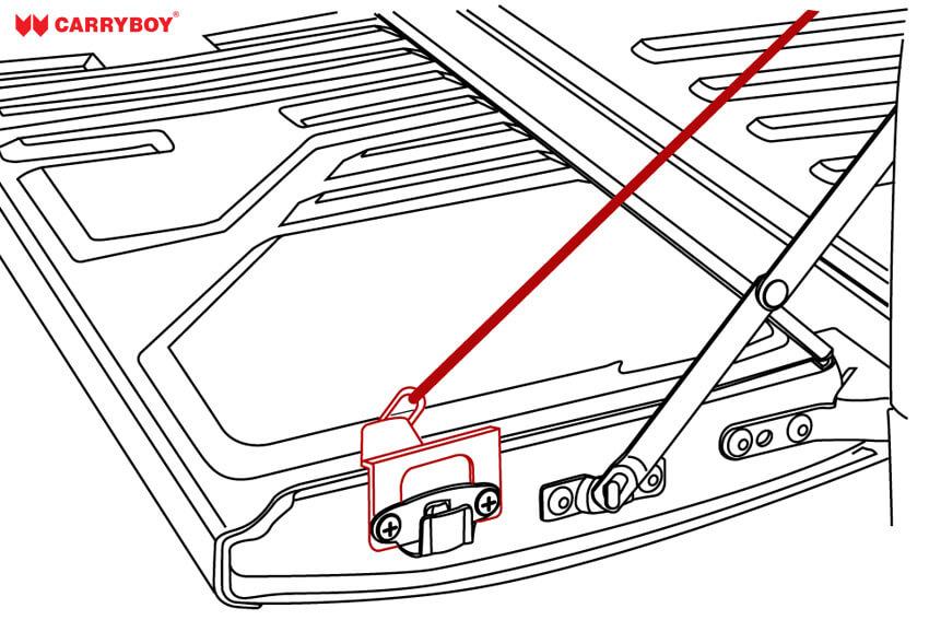 Slingup Zeichnung - Befestigung des Zugseils