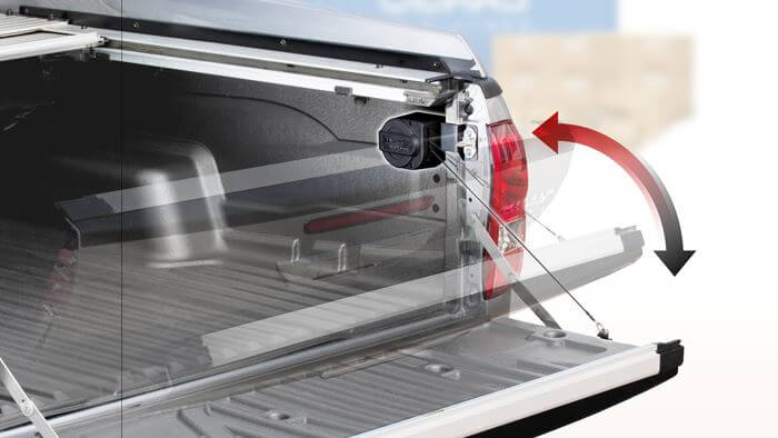 CARRYBOY Heckklappenfeder Slingup stufenlos einstellbar Toyota Hilux Revo Invincibble einfacher arbeitet in beide Richtungen