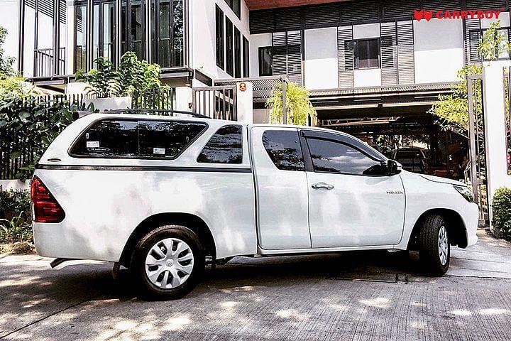 CARRYBOY Hardtop 560-TRC mit Schiebefenster Toyota Hilux Revo 2016+ Invincible 2021+ Extrakabine mit Lüftungsfenster