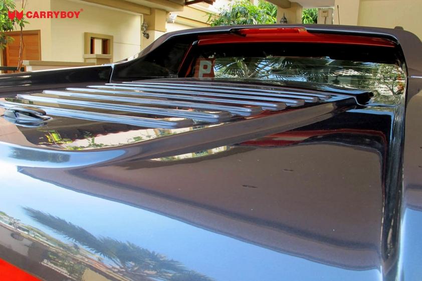 CARRYBOY Laderaumabdeckung Deckel mit Gasfedern Mitsubishi L200 Doppelkabine 2005-2015