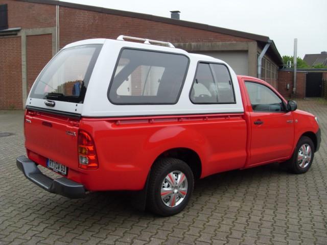 CARRYBOY Hardtop mit Überhöhe und Schiebefenster Modell 840 Toyota Hilux Vigo Einzelkabine
