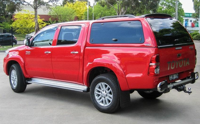 Toyota Hilux 2005-2015 Doppelkabine Hardtop mit Klappfenster Seitenansicht