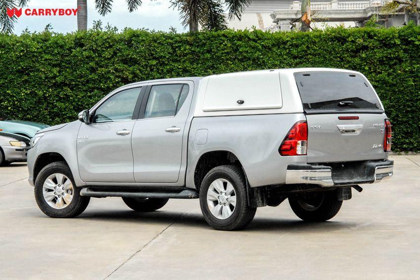 CARRYBOY Gewerbehardtop robustes GFK WM-TRD Toyota Hilux Doppelkabine Revo Invincible geschlossene große Seitenklappen sicher abschließbar