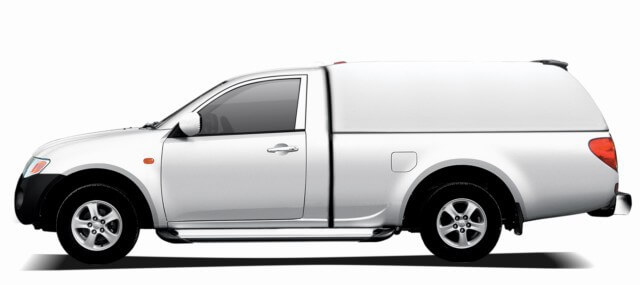 CARRYBOY Hardtop 560oS-MTL Mitsubishi L200 Singlecab 2005-2015 belastbares GFK Hardtop ohne Seitenfenster gesicherte Ersatzteilservice