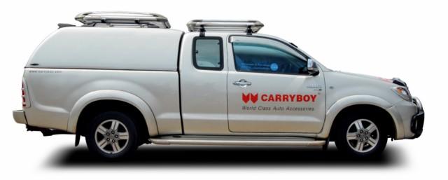 CARRYBOY Hardtop ohne Seitenfenster geschlossene Seiten 560oS-MTC Mitsubishi L200 Clubcab Extrakabine 2005-2015