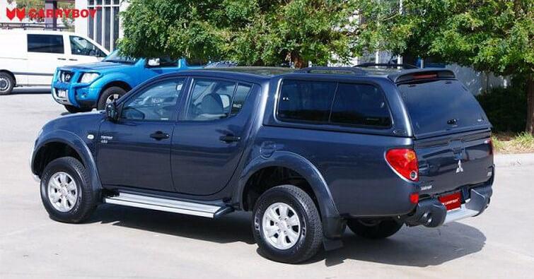 CARRYBOY Hardtop mit Schiebefenster 560-MTDL Mitsubishi L200 Doppelkabine Langbett 151cm getönte Seitenscheiben