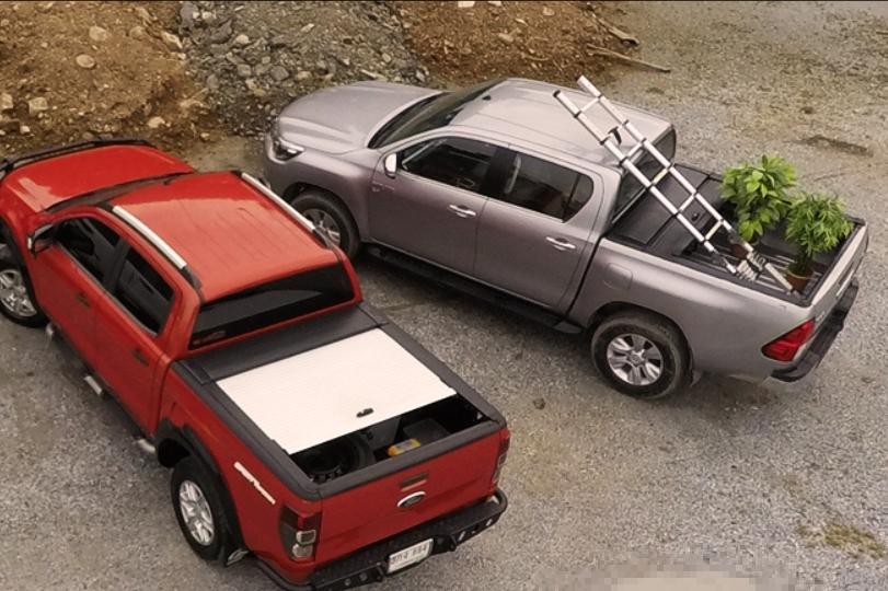Ford Ranger Doppelkabine Laderaumabdeckung Rollo aus Aluminium, in verschiedenen Farben