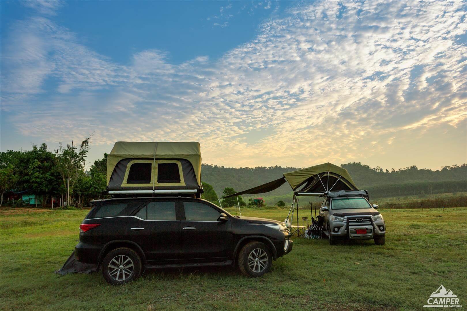 Carryboy Camper Dachzelt für 2 bis 3 Personen für alle Fahrzeuge bequemer und einfacher Aufbau