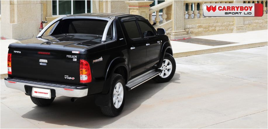 CARRYBOY Pickup Laderaumabdeckung Deckel mit Edelstahlbügel GRX Ford Ranger Toyota Hilux Mitsubishi L200 VW Amarok