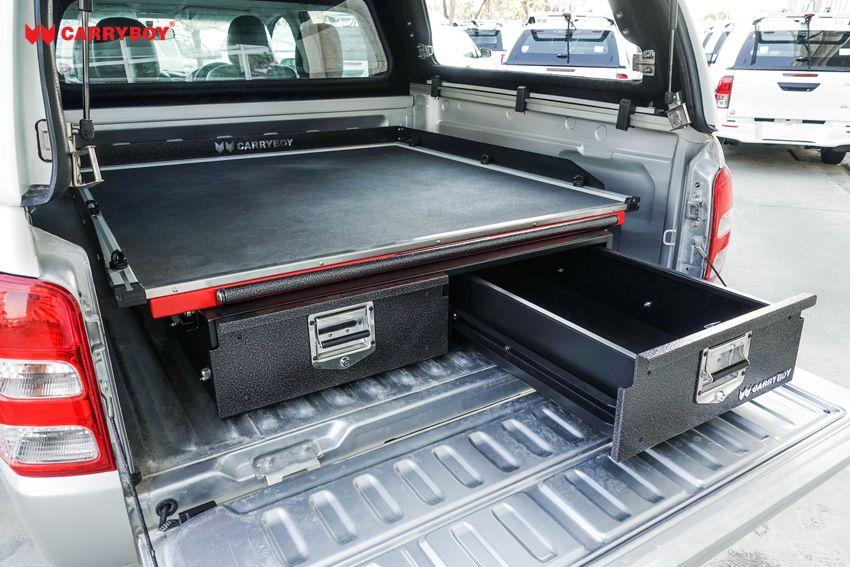 CARRYBOY Ladebodenauszug mit Werkzeugschubladen Kombination CB-800 Größe S Schublade