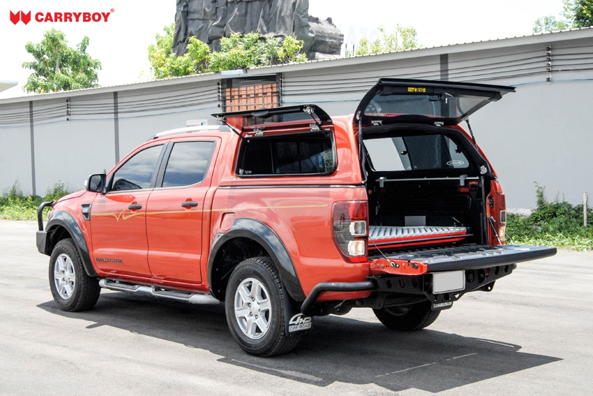 CARRYBOY Hardtop mit Klappfenster und Schiebefensterkombination Fiat Fullback Doppelkabine g
