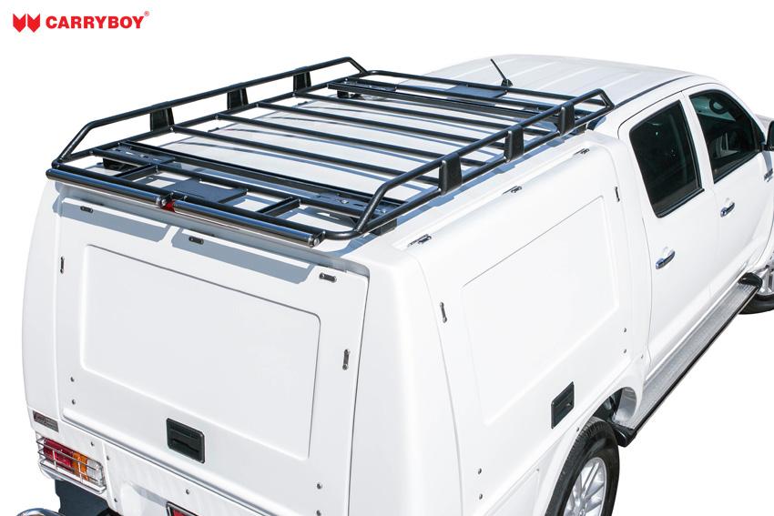 CARRYBOY Dachlastträger für Hardtop oder Kofferaufbau Dachträger Gesamtbild auf Hardtop Einzelkabine