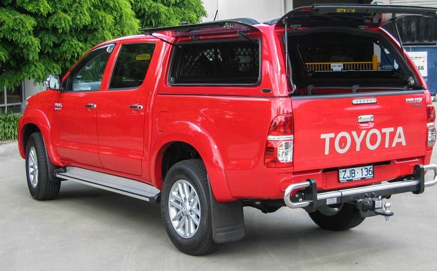 Toyota Hilux 2005-2015 Doppelkabine Hardtop mit Klappfenster offen