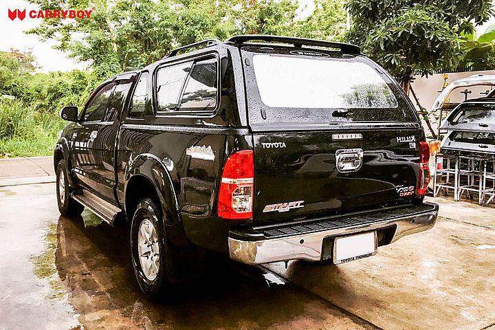 CARRYBOY Hardtop mit Schiebefenster Toyota Hilux Vigo Extrakabine 2005-2015 Heckscheibe beheizbar