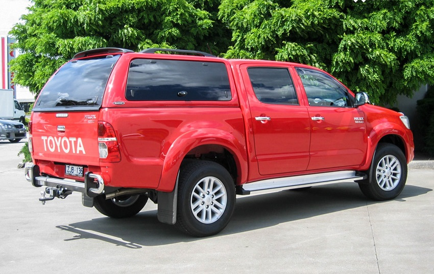 Toyota Hilux 2005-2015 Doppelkabine Hardtop mit Klappfenster