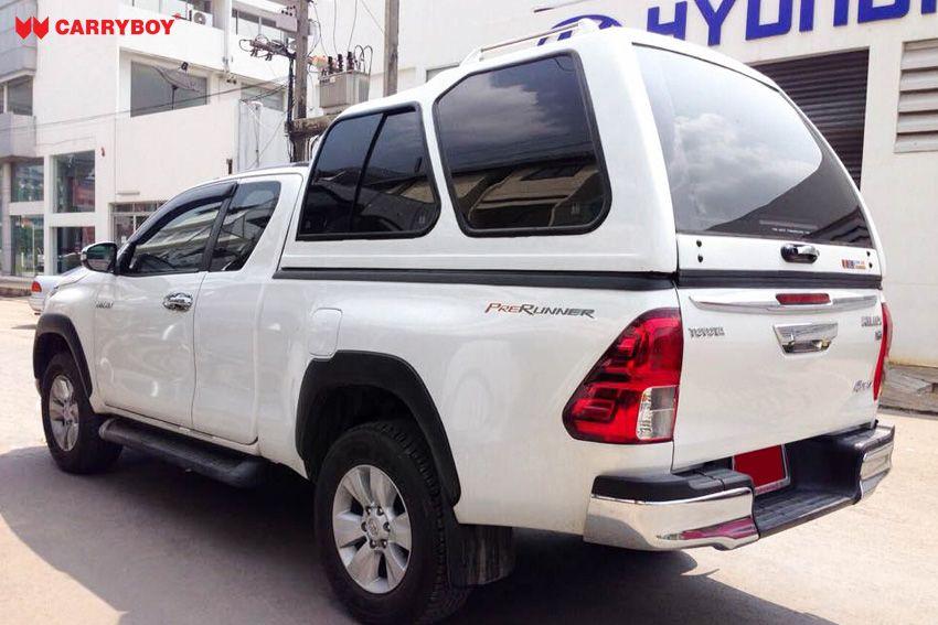 CARRYBOY Hardtop Überhöhe extrahoch 840-TRC mit Schiebefenster Toyota Hilux Revo Extrakabine 2016+ maximaler Stauraum