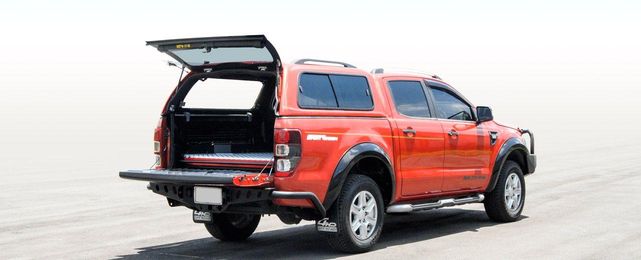 CARRYBOY GFK Hardtop SO56-FTD Schiebefenster Klappfenster Kombination mit neuem Design Ford Ranger Doppelkabine Lackierung in Wagenfarbe