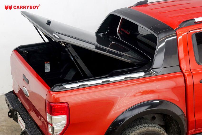 CARRYBOY GFK Deckel in Wagenfarbe lackiert Ford Ranger Doppelkabine Wildtrak Raptor kombinierbar mit original Überrollbügel
