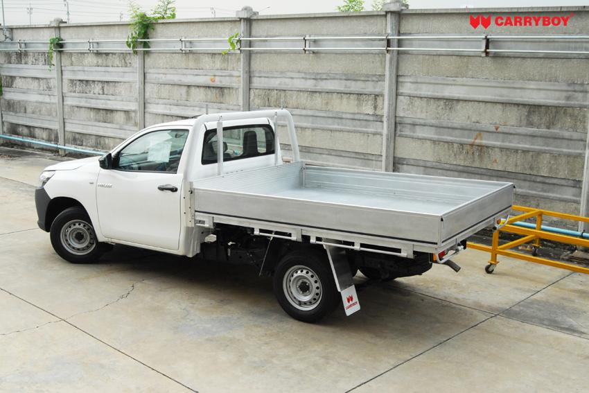 Carryboy Aluminiumladefläche für Einzelkabine Pickups mit Frontschutz Kabinenbügel