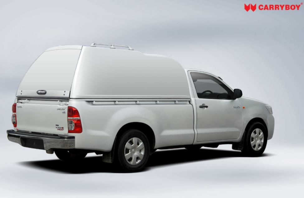 CARRYBOY Hardtop mit Überhöhe geschlossene Seiten Ford Ranger Einzelkabine_Singlecab 2002-2011
