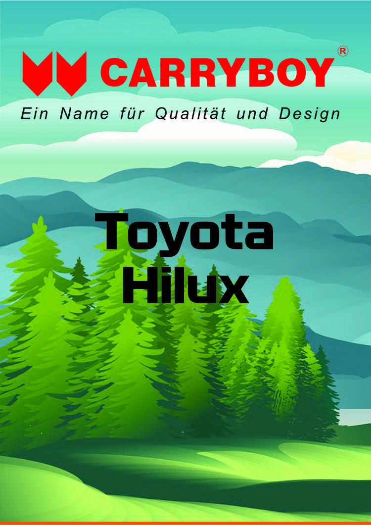 CARRYBOY Flyer Broschüre Toyota Hilux Revo Invincible Hardtop Laderaumabdeckung Zubehör