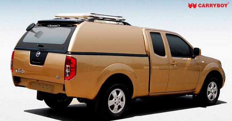 CARRYBOY Hardtop 560oS-NP3K Nissan Navara NP300 Kingcab Extrakabine Hardtop geschlossene Seiten