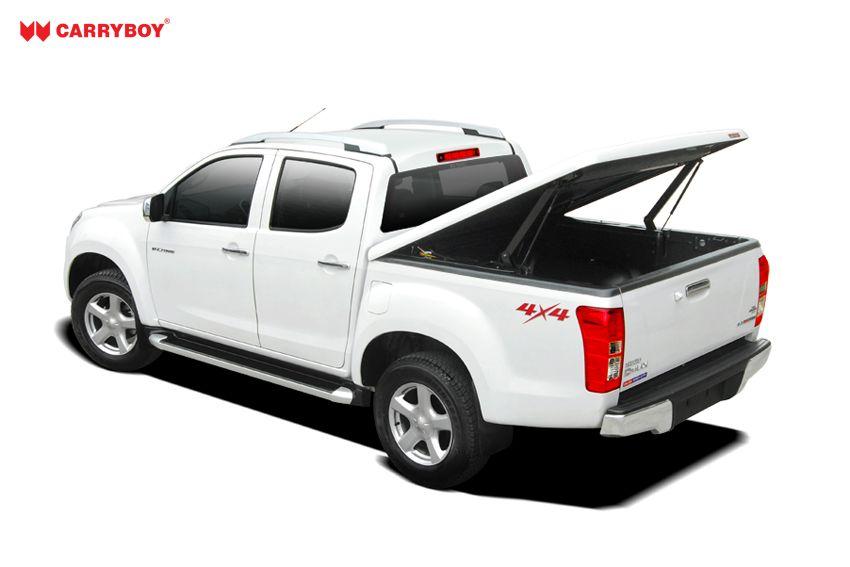 CARRYBOY Laderaumabdeckung Pickup mit Motorhub SMX Deckel auf Kabinenhöhe einstellbar angewinkelt