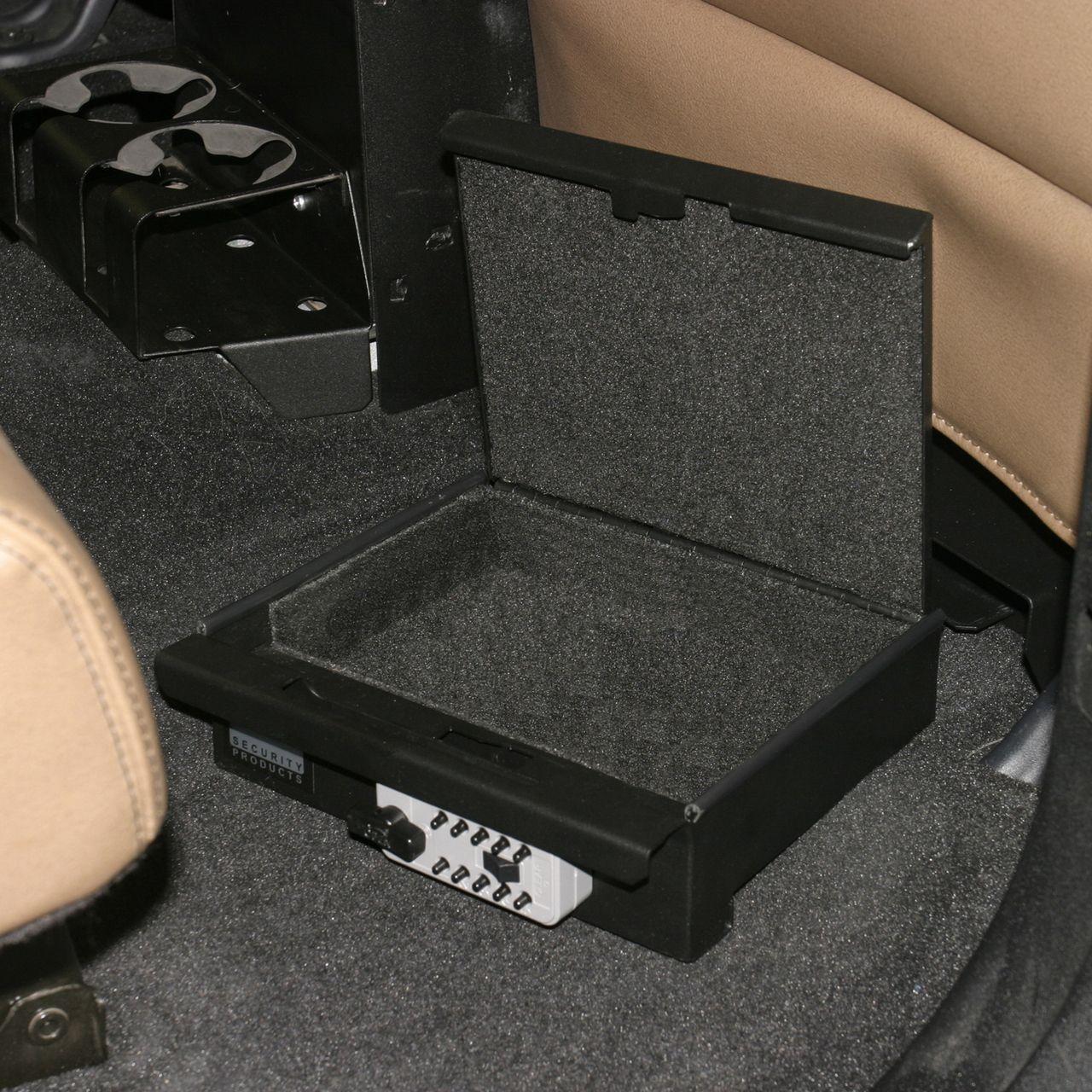 NOVISauto Autosafe Einschubkassette Wertsachensafe Fahrzeug und Camping Kombinationsschloss innen gepolstert